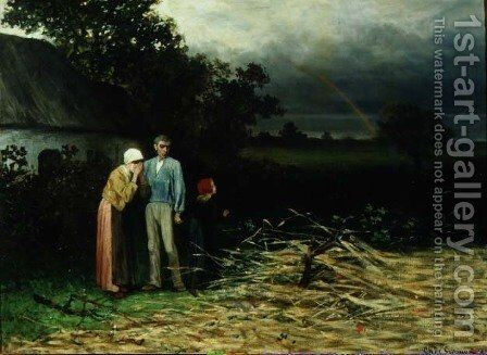 The Lost Harvest by Charles de Groux - Reproduction Oil Painting