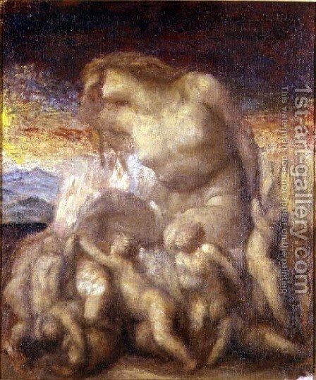 Study for 'Evolution' by George Frederick Watts - Reproduction Oil Painting
