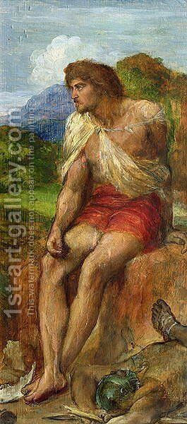 Samson, 1875 by George Frederick Watts - Reproduction Oil Painting