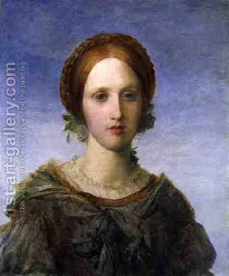 'Isabella', a Portrait of Miss Arabella Prescott, 1857 by George Frederick Watts - Reproduction Oil Painting