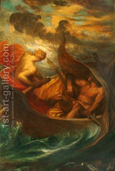Love steering the Boat of Humanity, c.1900 by George Frederick Watts - Reproduction Oil Painting
