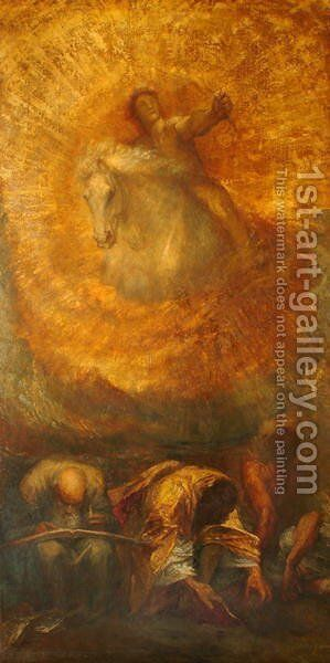 Progress by George Frederick Watts - Reproduction Oil Painting
