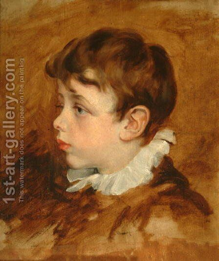 Boy's Head, 1836 by George Frederick Watts - Reproduction Oil Painting