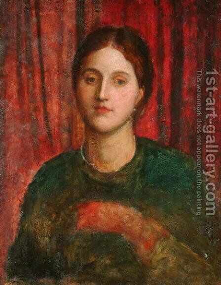 Portrait of a Lady 2 by George Frederick Watts - Reproduction Oil Painting