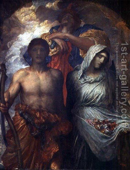 Time, Death and Judgement, c.1895 by George Frederick Watts - Reproduction Oil Painting