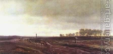 In the fields, 1872 by Clodt von Jurgensburg Mikhail Konstantinovitch - Reproduction Oil Painting