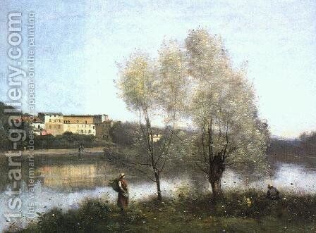 Ville d'Avray, c. 1867 by Jean-Baptiste-Camille Corot - Reproduction Oil Painting