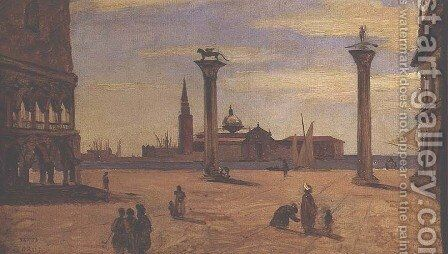 Piazzetta di San Marco, Venice, 1828-34 by Jean-Baptiste-Camille Corot - Reproduction Oil Painting