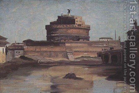 The Castle of St. Angelo, Rome by Jean-Baptiste-Camille Corot - Reproduction Oil Painting
