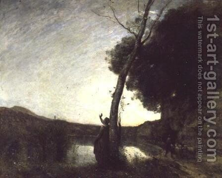 The Shepherd's Star, 1864 by Jean-Baptiste-Camille Corot - Reproduction Oil Painting