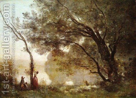 Recollections of Mortefontaine, 1864 by Jean-Baptiste-Camille Corot - Reproduction Oil Painting