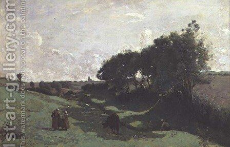 The Little Valley by Jean-Baptiste-Camille Corot - Reproduction Oil Painting