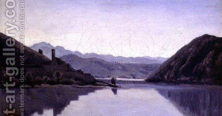 Lago di Piediluco, Umbria by Jean-Baptiste-Camille Corot - Reproduction Oil Painting