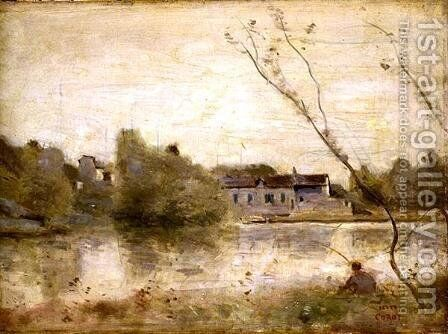 The Pond from the Villa d'Avray, 1865 by Jean-Baptiste-Camille Corot - Reproduction Oil Painting