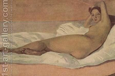 The Roman Odalisque (Marietta) 1843 by Jean-Baptiste-Camille Corot - Reproduction Oil Painting
