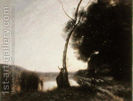The Evening Star, 1864 by Jean-Baptiste-Camille Corot - Reproduction Oil Painting