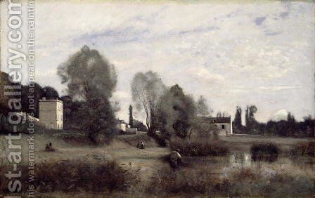 Ville d'Avray, 1865 by Jean-Baptiste-Camille Corot - Reproduction Oil Painting