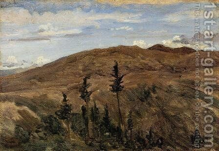Mountains in Auvergne, 1841-42 by Jean-Baptiste-Camille Corot - Reproduction Oil Painting