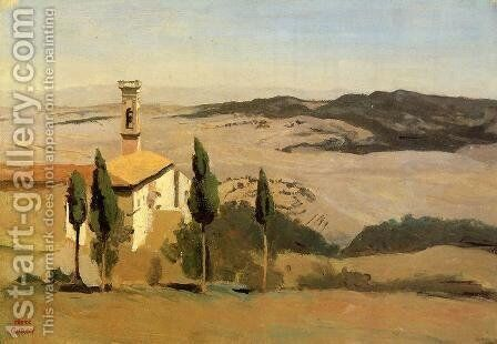 Venice - View of Campo della Carita looking towards the Dome of the Salute, 1834 by Jean-Baptiste-Camille Corot - Reproduction Oil Painting