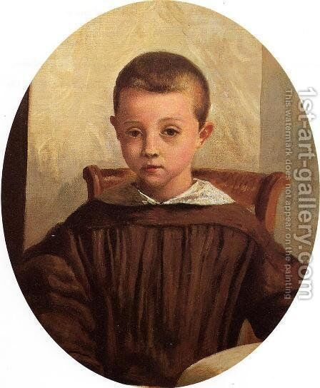 The Son of M. Edouard Delalain, c.1845-50 by Jean-Baptiste-Camille Corot - Reproduction Oil Painting