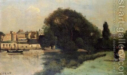 Richmond, near London, 1862 by Jean-Baptiste-Camille Corot - Reproduction Oil Painting