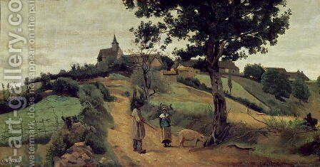 Saint-Andre-en-Morvan, 1842 by Jean-Baptiste-Camille Corot - Reproduction Oil Painting