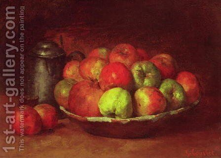 Still Life with Apples and a Pomegranate, 1871-72 by Gustave Courbet - Reproduction Oil Painting