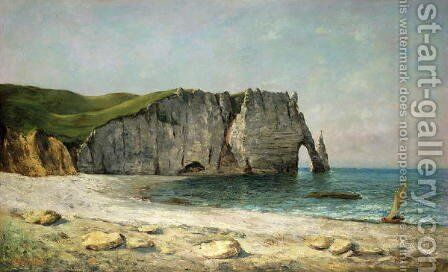 The Sea-Arch at Etretat, 1869 by Gustave Courbet - Reproduction Oil Painting