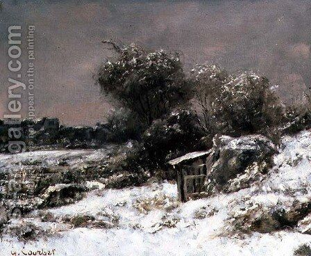 Winter Scene by Gustave Courbet - Reproduction Oil Painting