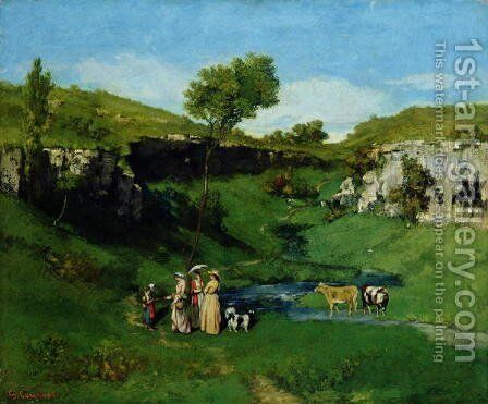 The Village Maidens, 1851 by Gustave Courbet - Reproduction Oil Painting