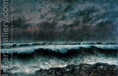 The Wave, 1870 by Gustave Courbet - Reproduction Oil Painting