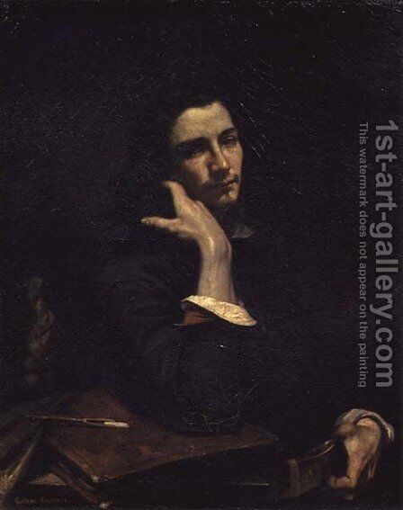 The Man with the Leather Belt. Portrait of the Artist, c.1846 by Gustave Courbet - Reproduction Oil Painting