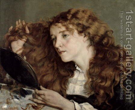 Jo, the Beautiful Irish Girl, 1866 by Gustave Courbet - Reproduction Oil Painting