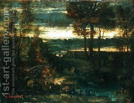 Evening Landscape by Gustave Courbet - Reproduction Oil Painting