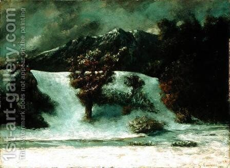 Winter Landscape With The Dents Du Midi, 1876h by Gustave Courbet - Reproduction Oil Painting