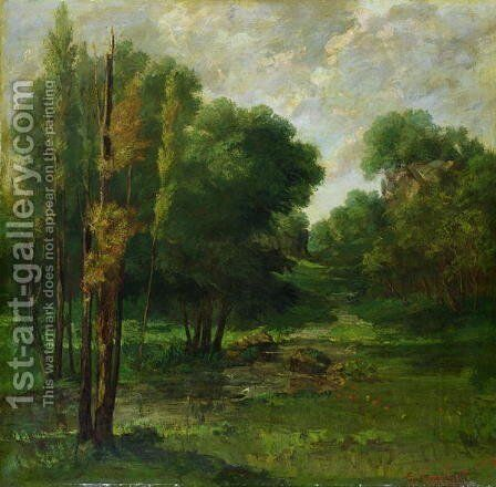 Forest Landscape, 1864 by Gustave Courbet - Reproduction Oil Painting
