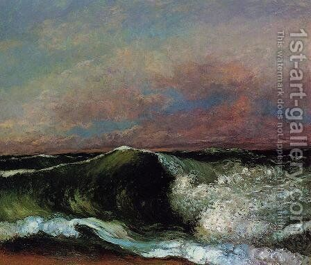 The Wave, 1870 2 by Gustave Courbet - Reproduction Oil Painting