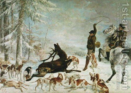 The Death of the Deer, 1867 by Gustave Courbet - Reproduction Oil Painting