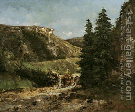 Landscape near Ornans, c.1858 by Gustave Courbet - Reproduction Oil Painting