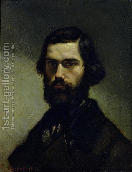 Portrait of Jules Valles (1832-85) c.1861 by Gustave Courbet - Reproduction Oil Painting