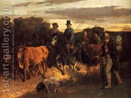 The Peasants of Flagey Returning from the Fair, 1850-55 by Gustave Courbet - Reproduction Oil Painting