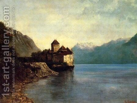 Chateau de Chillon, 1874 by Gustave Courbet - Reproduction Oil Painting