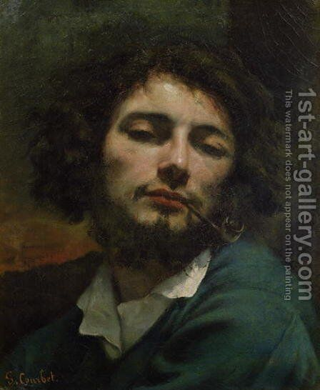 Self Portrait or, The Man with a Pipe, c.1846 by Gustave Courbet - Reproduction Oil Painting
