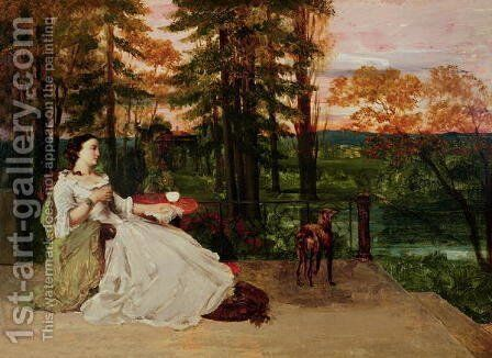 Woman of Frankfurt, 1858 by Gustave Courbet - Reproduction Oil Painting