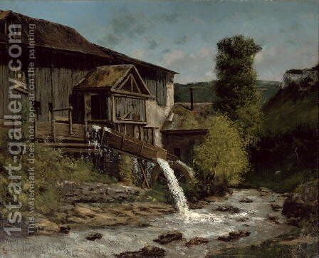 The Sawmill on the River Gauffre by Gustave Courbet - Reproduction Oil Painting