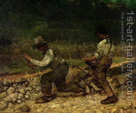 The Stonebreakers 2 by Gustave Courbet - Reproduction Oil Painting