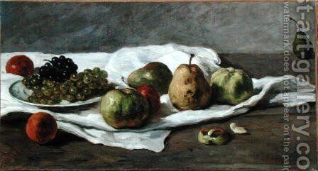 Apples, pears and grapes by Gustave Courbet - Reproduction Oil Painting