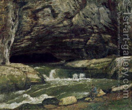 The Source of the Loue or La Grotte Sarrazine by Gustave Courbet - Reproduction Oil Painting