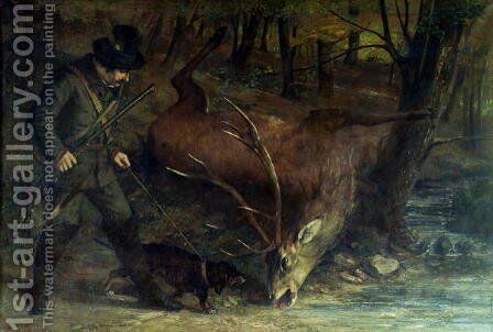 The Death of the Stag, 1859 by Gustave Courbet - Reproduction Oil Painting
