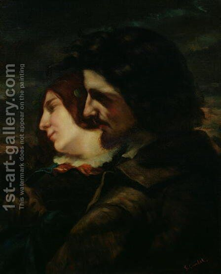 The Lovers in the Countryside, after 1844 by Gustave Courbet - Reproduction Oil Painting